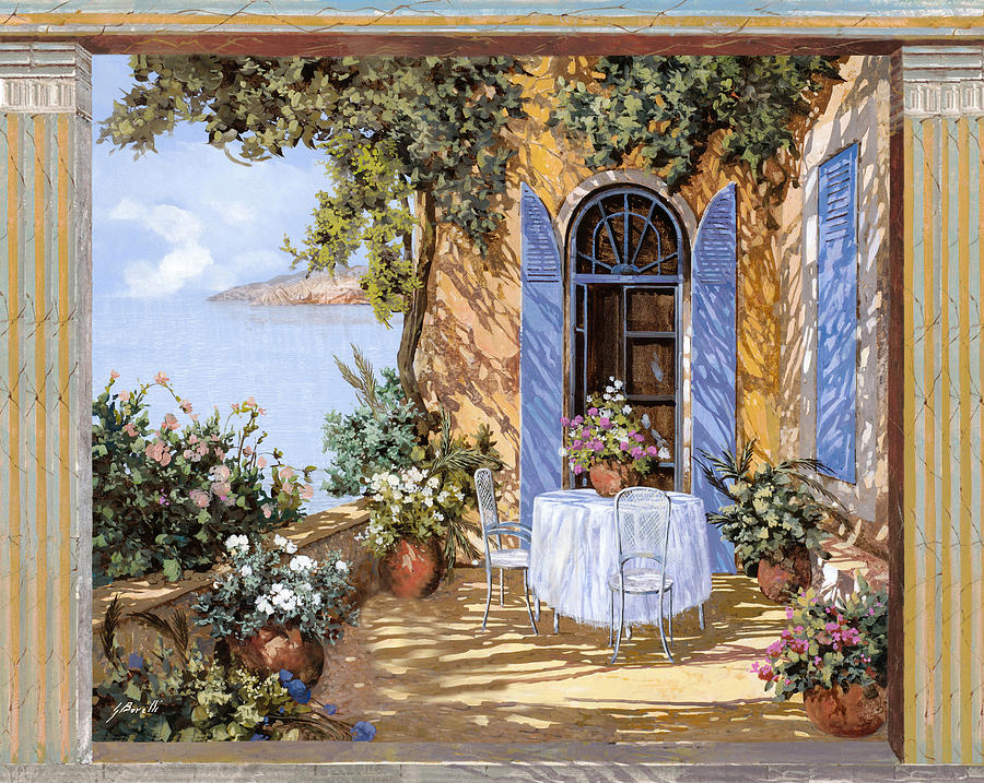 Blue Door Painting - Le Porte Blu by Guido Borelli