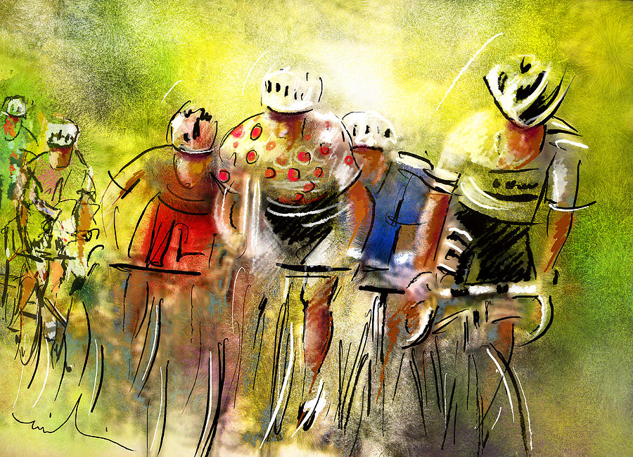 Sports Painting - Le Tour De France 07 by Miki De Goodaboom