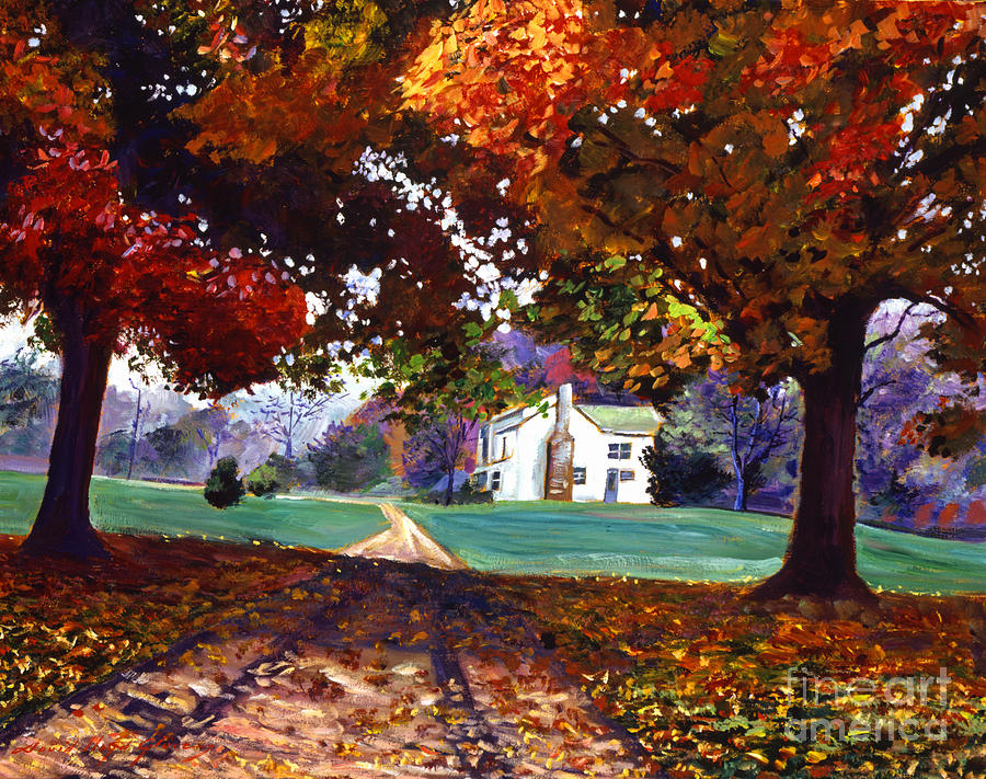 Landscape Painting - Leaves Of Color by David Lloyd Glover