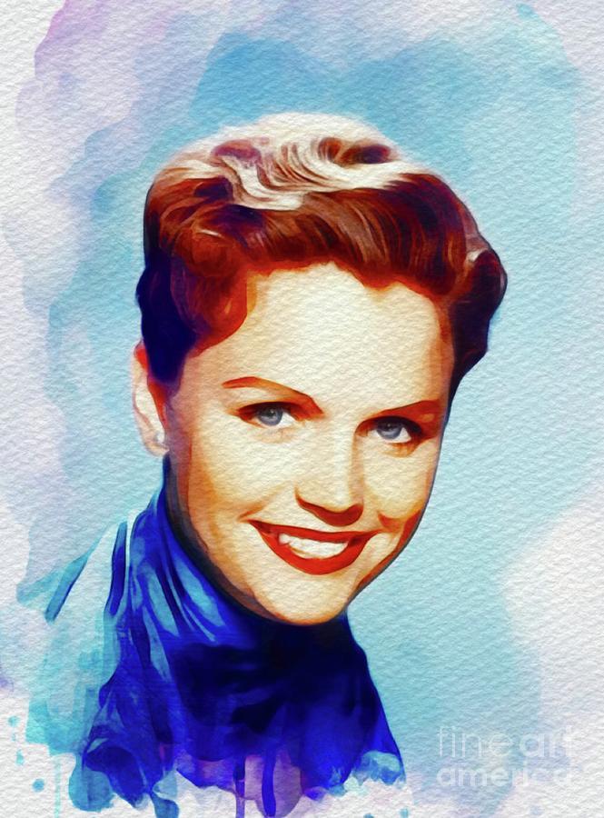 Lee Remick, Vintage Movie Star Painting