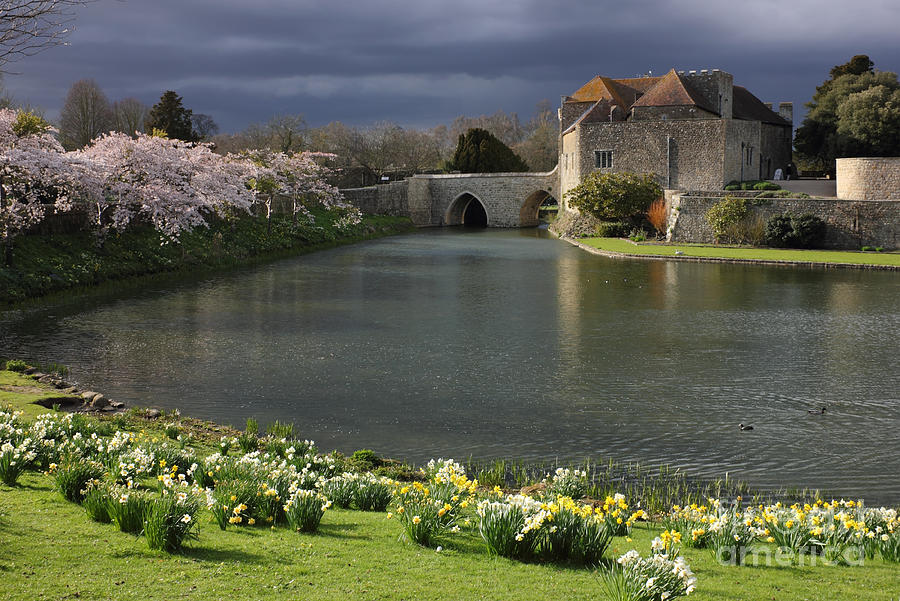 Kent Photograph - Leeds Castle In Kent United Kingdom by Kiril Stanchev