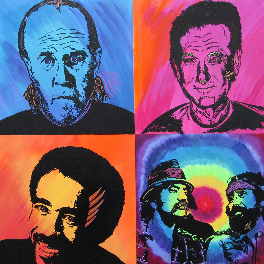 Comedians Paintings Painting - Legends Of Laughter by Bill Manson