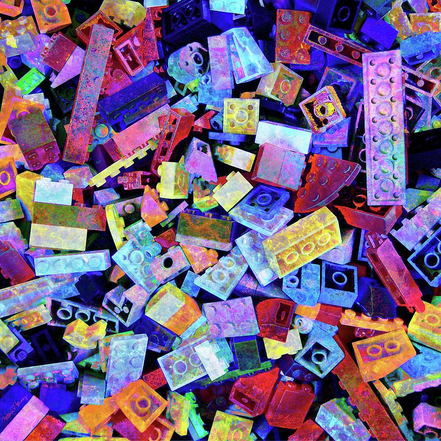Lego Digital Art - Legos by Barbara Berney
