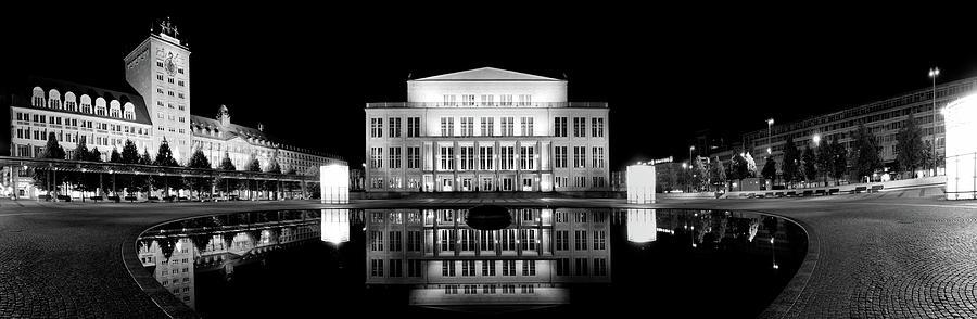 Leipzig Photograph - Leipzig Panorama by Marc Huebner