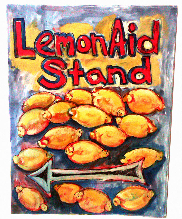 Still Life Stand Painting - Lemon Aid Stand 2 by Don Thibodeaux