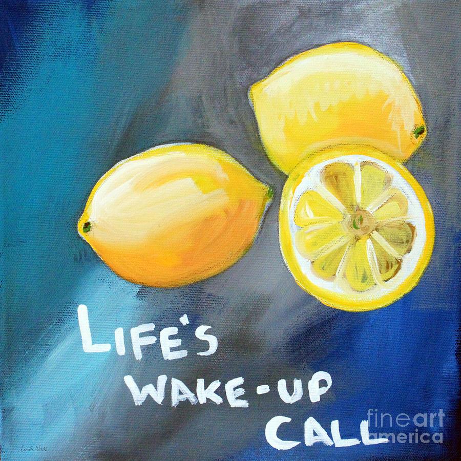 Lemon Painting - Lemons by Linda Woods