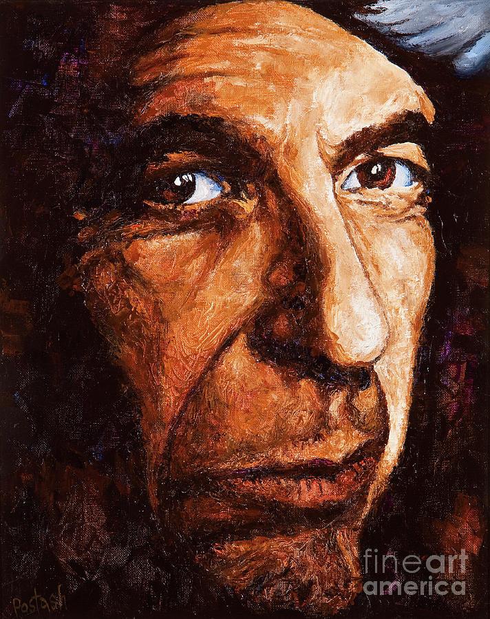 Colorful Painting - Leonard Cohen by Igor Postash