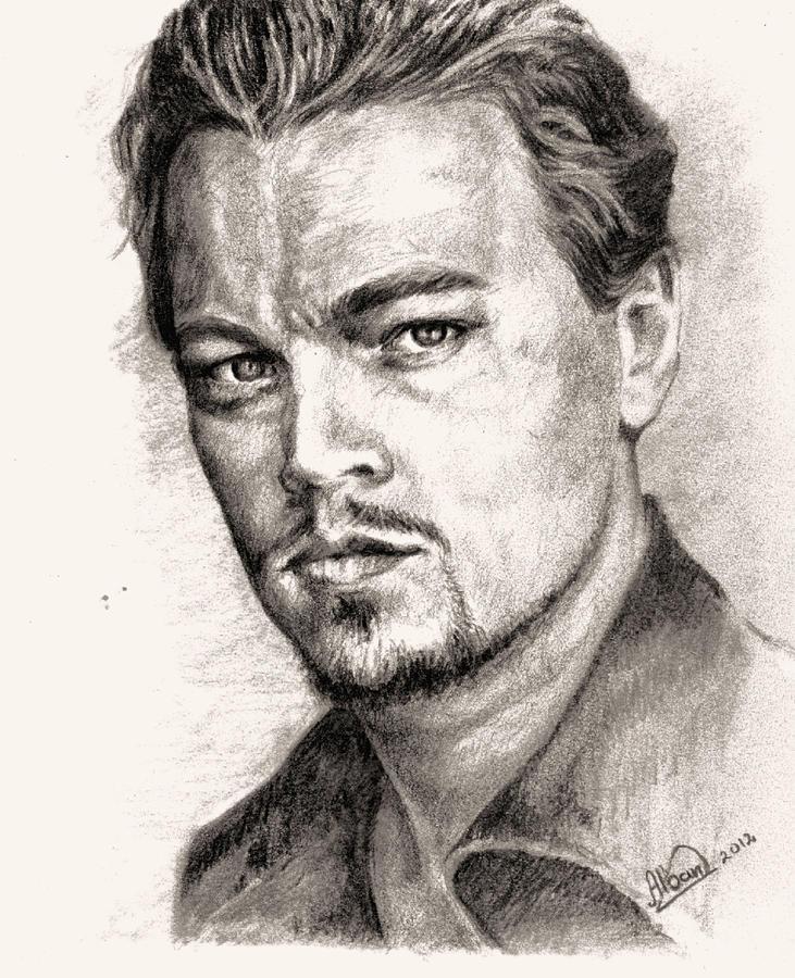 Actor Drawing - Leonardo Dicaprio Portrait Nr.2 by Alban Dizdari
