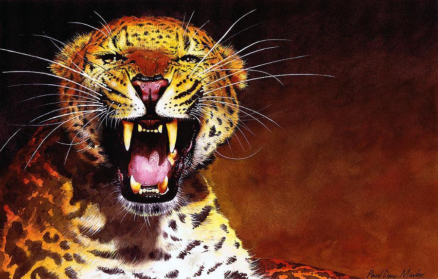 Leopard Painting - Leopard by Paul Dene Marlor