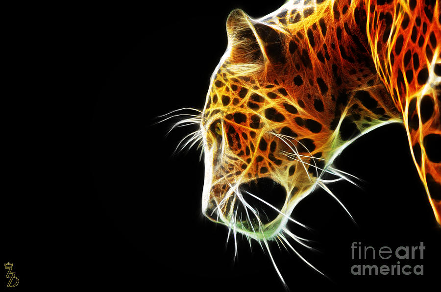 Leopard Digital Art - Leopard by The DigArtisT