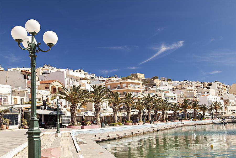Coastal shower curtain - Lerapetra Crete Photograph By Sophie Mcaulay