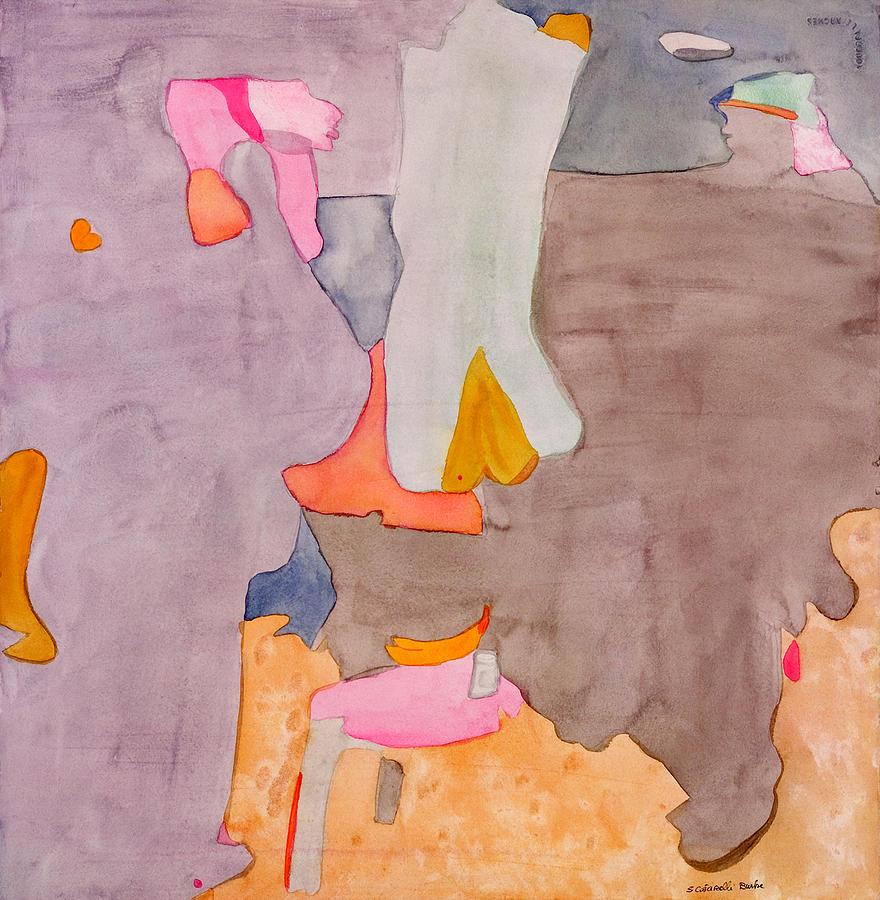 Abstract Painting - Les Demoiselles Of Santa Cruz V6 by Susan Cafarelli Burke