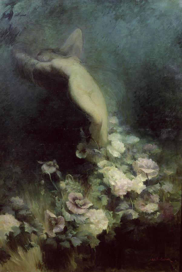 Les Fleurs Du Sommeil Painting