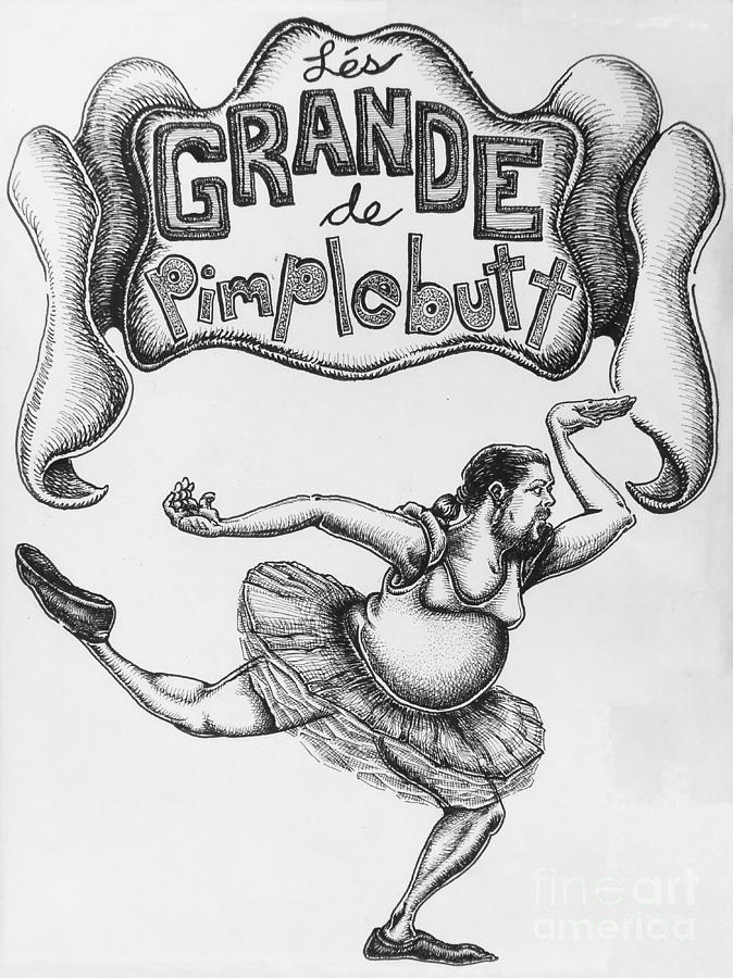 Comic Drawing - Les Grande De Pimplebutt by Mack Galixtar