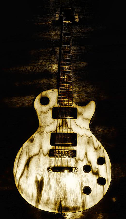 Les Paul Photograph - Les Paul Guitar by Bill Cannon