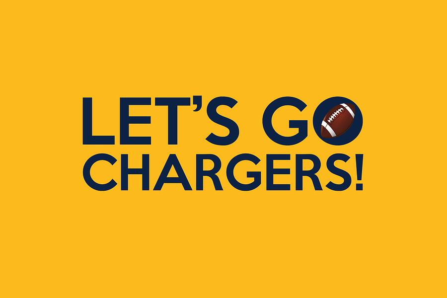 Let S Go Chargers Painting By Florian Rodarte