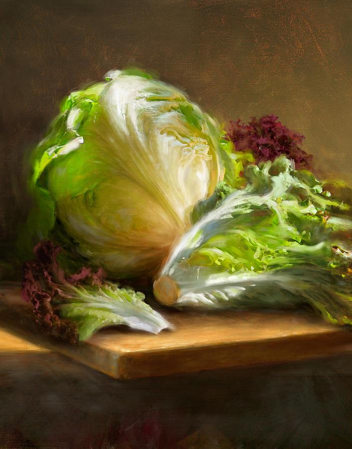 Lettuce Painting - Lettuce by Robert Papp