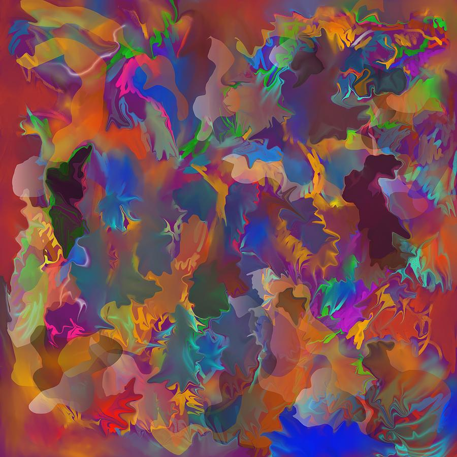 Abstract Painting - Level 4 Matrix by Peter Shor