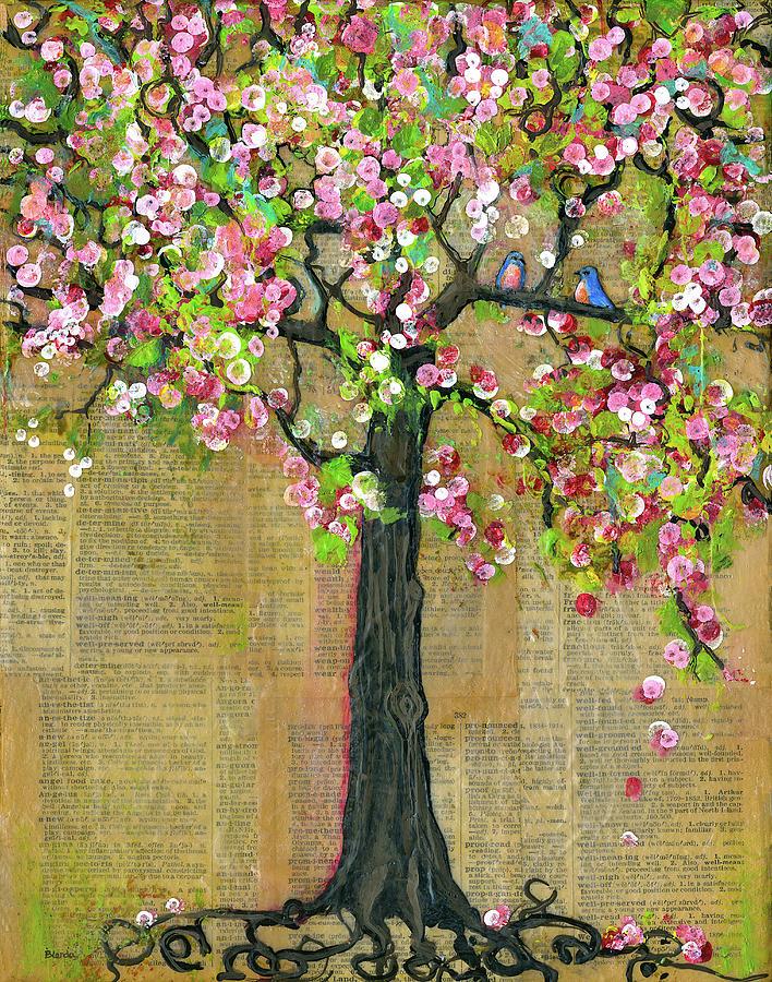 Tree Painting - Lexicon Tree Of Life 4 by Blenda Studio