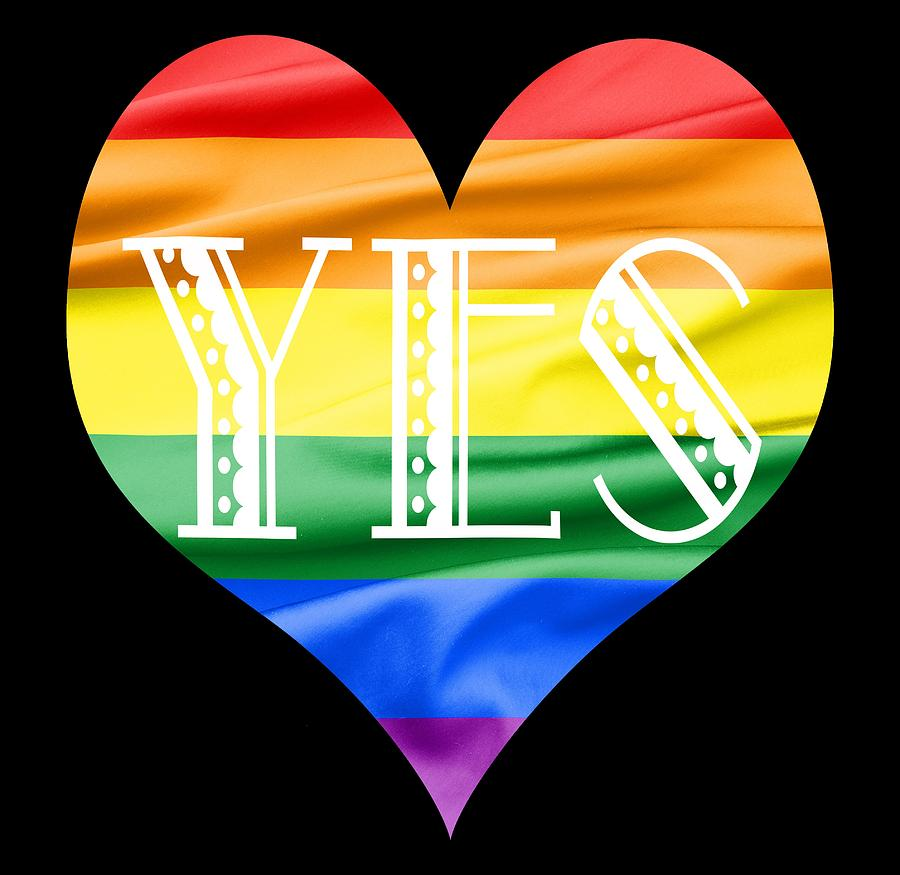 Lgbt Heart With A Big Fat Yes Photograph By Semmick Photo