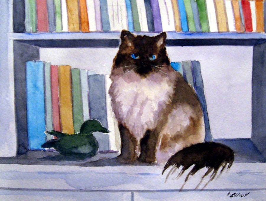 Cat Painting - Lhasa by Marsha Elliott