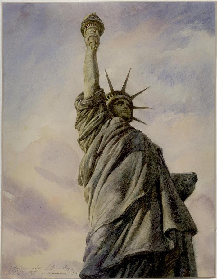 New-york City Painting - Liberte by Vladimir Rumianzev