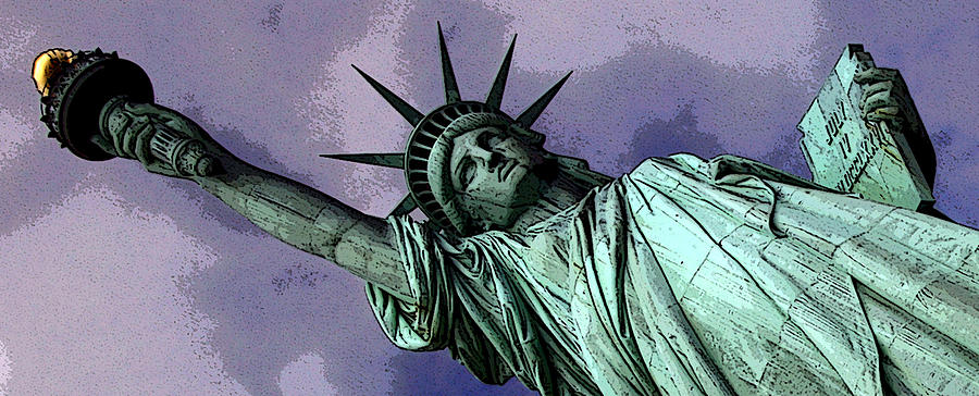 Statue Of Liberty Digital Art - Liberty 3 by William  Todd