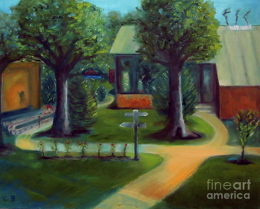 Oil Painting Painting - Lichterman Nature Center by Karen Francis