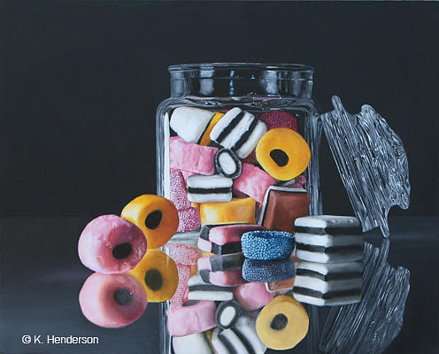 Licorice Allsorts By K Henderson Painting