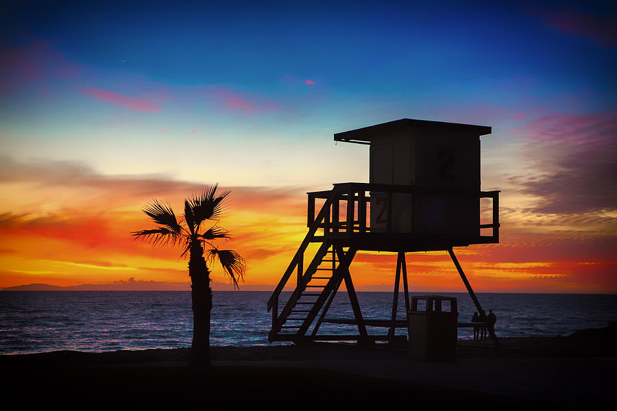 Lifeguard Station Sunset by Marvin Kimble