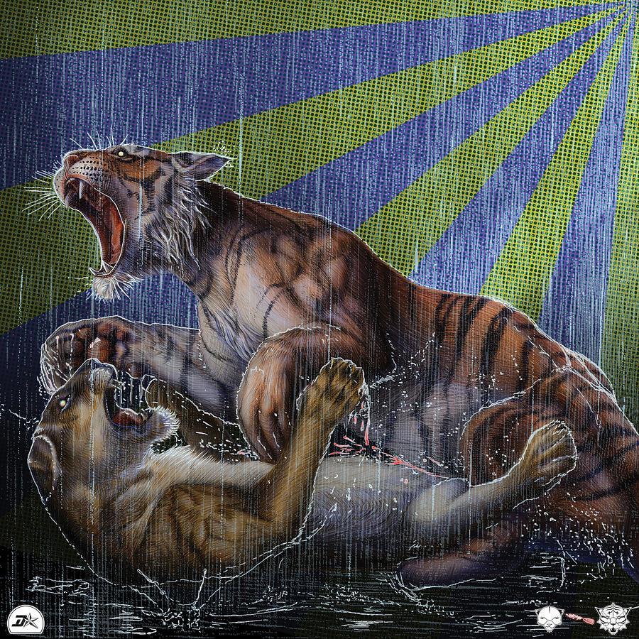 Zebratavi Drawing - Liger  Release by David Starr