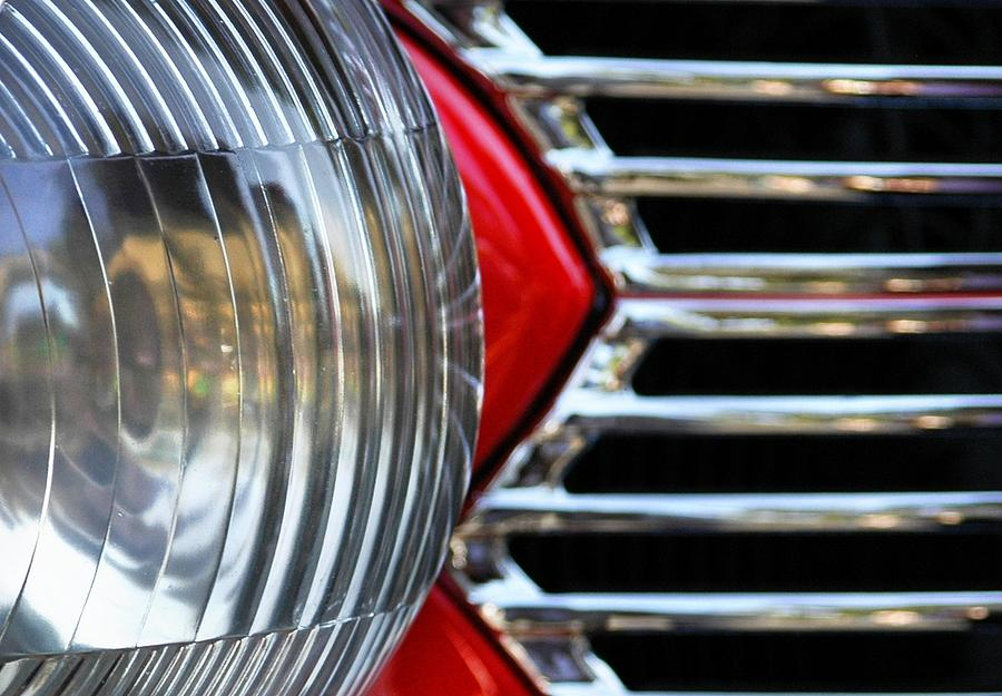 Car Photograph - Light And Grill by Dan Holm