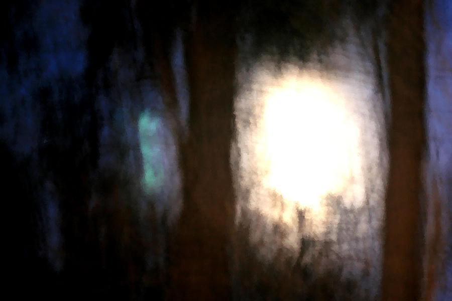Nature Photograph - Light Breaking Through The Dark Forest by Johann Todesengel