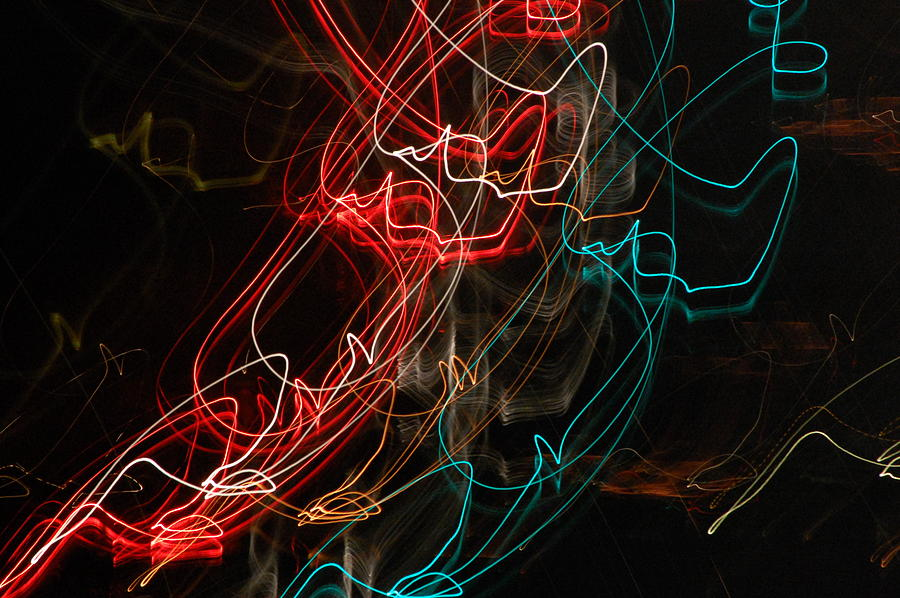 Abstract Digital Photo Photograph - Light In Motion by David Lane