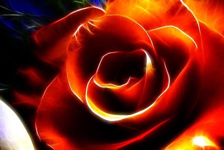 Rose Digital Art - Light Kisses by Adam Vance