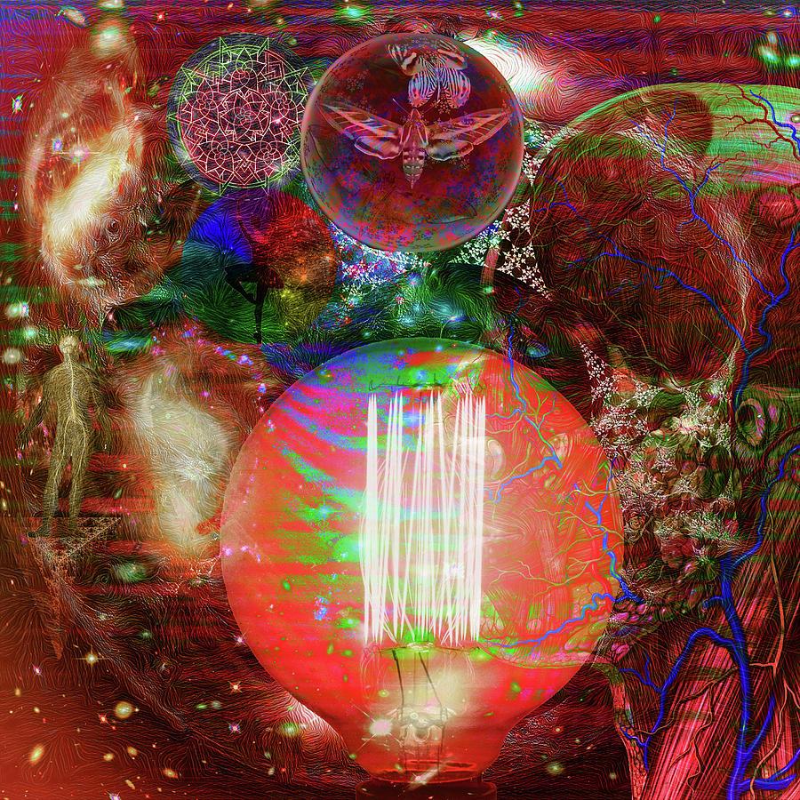 Light Of Man Multidimentional Sight Digital Art