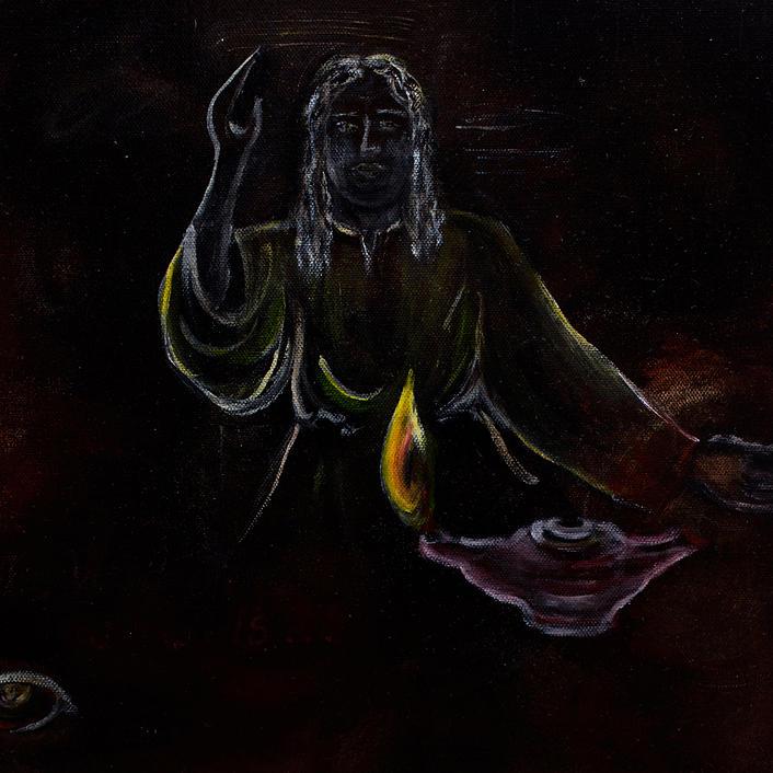 Spiritual Painting - Light Of The World by Emma Kinani