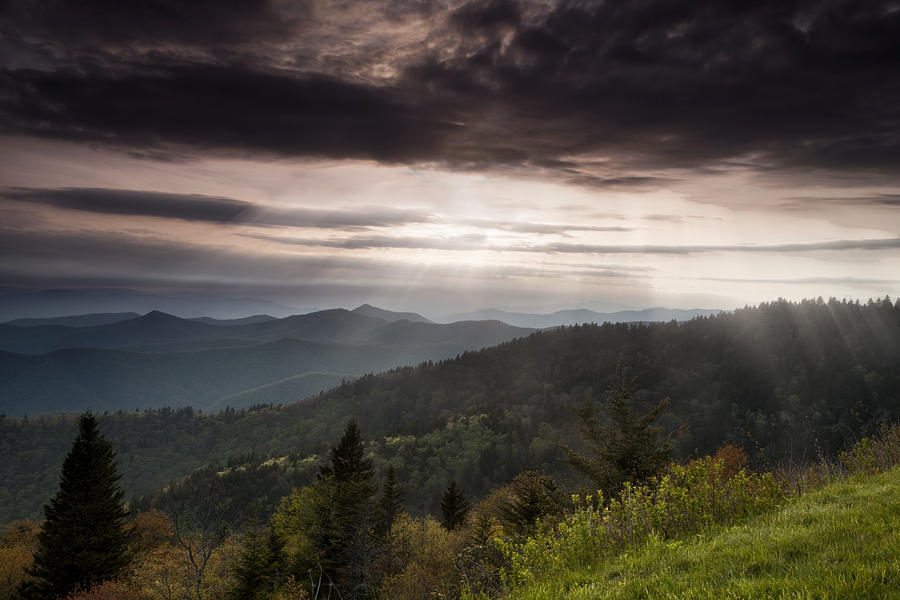 Blue Ridge Photograph - Light On The Blue Ridge by Andrew Soundarajan