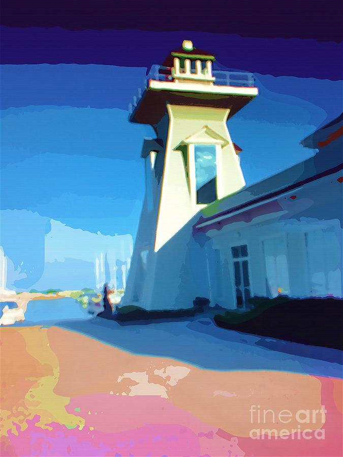 Pastels Lighthouse Painting - Lighthouse by Deborah MacQuarrie-Haig