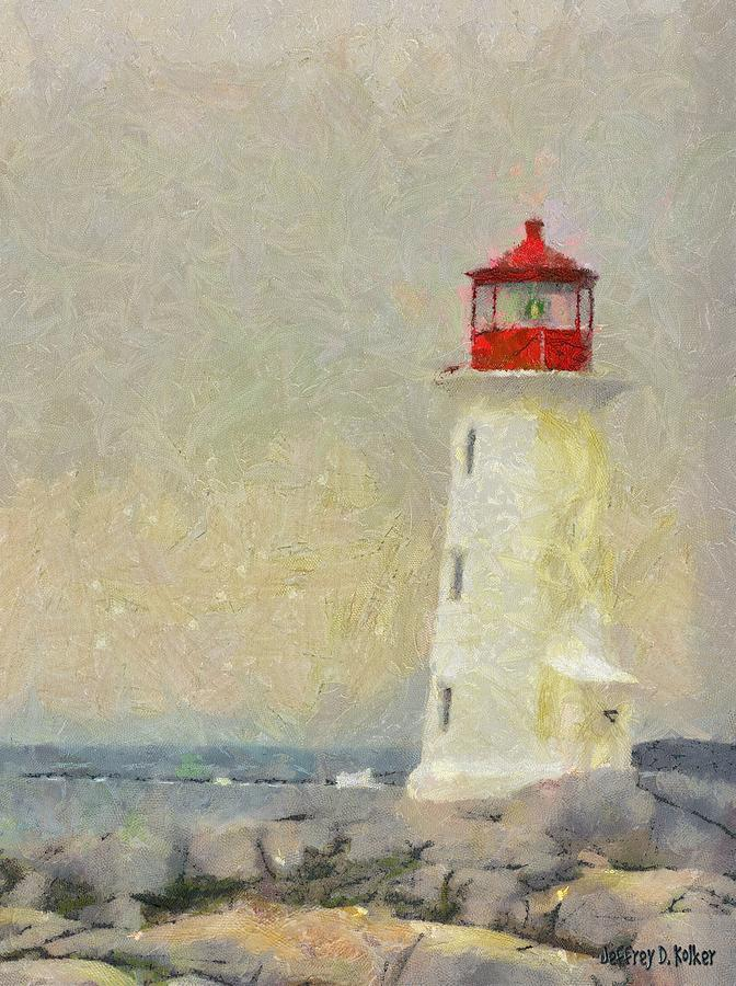 Canadian Painting - Lighthouse by Jeff Kolker