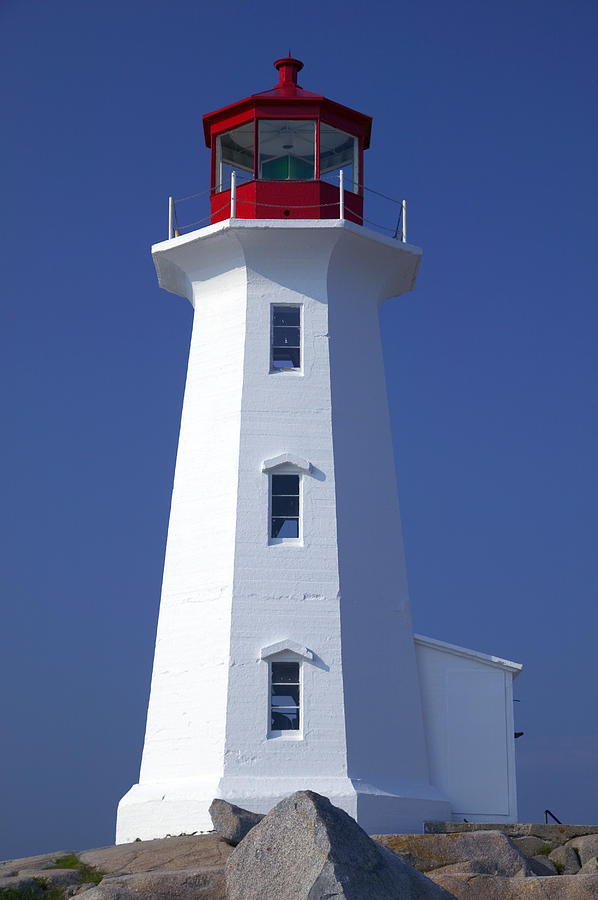Lighthouse Photograph - Lighthouse Peggys Cove by Garry Gay