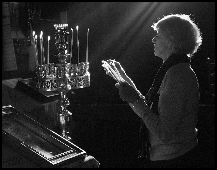 Prayer Photograph - Lighting A Prayer 1 by Julia Bridget Hayes