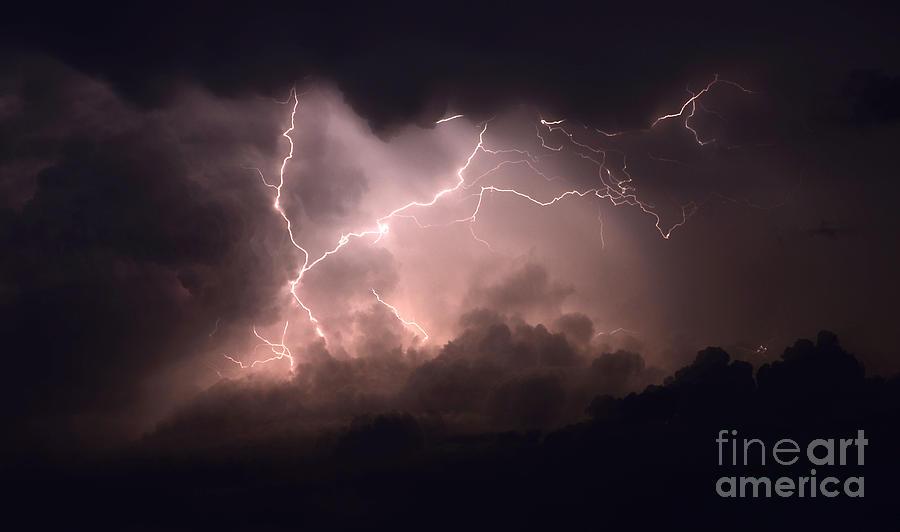 Lightning Photograph - Lightning 2 by Bob Christopher
