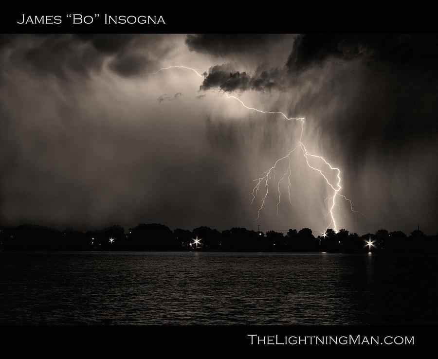Lightning Photograph - Lightning Energy Poster Print by James BO  Insogna