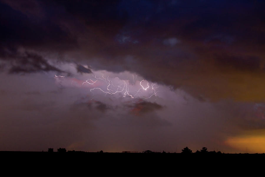 Lightning In The Sky Photograph