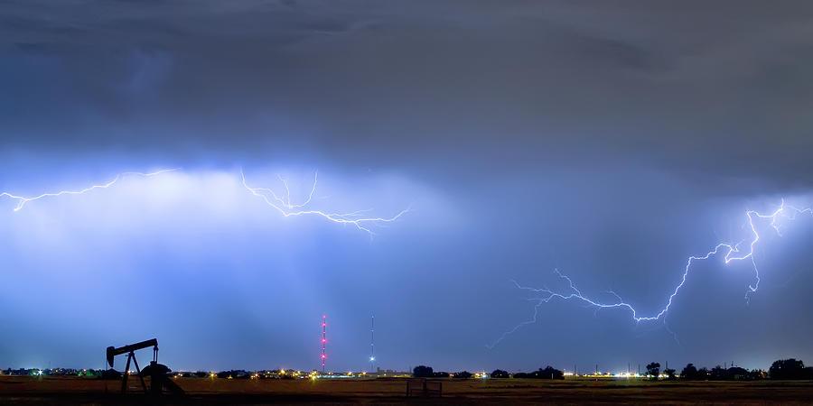Lightning Michelangelo Style Panorama Photograph