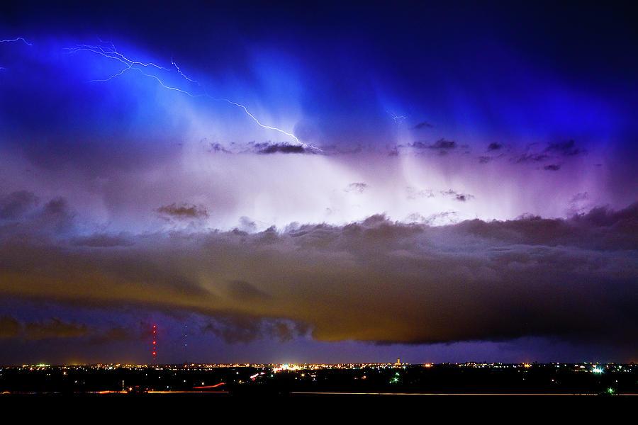 Lightning Thunder Head Cloud Burst Boulder County Colorado Im39 Photograph