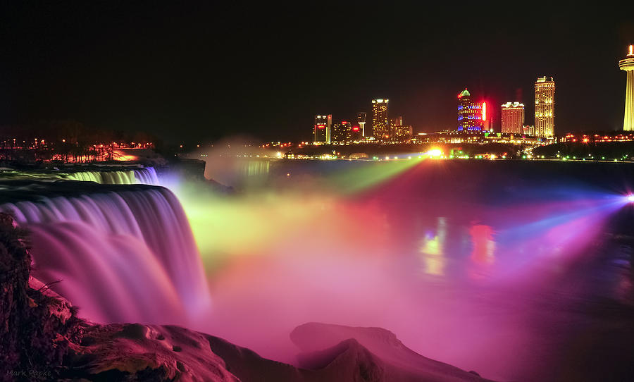 Niagara Falls Photograph - Lightshow by Mark Papke