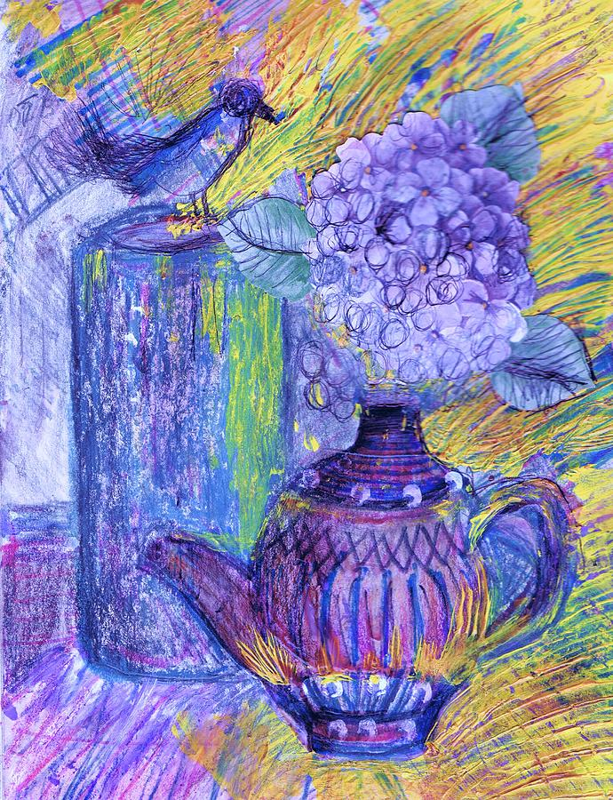 Vase Mixed Media - Like It Or Not It Is Different by Anne-Elizabeth Whiteway