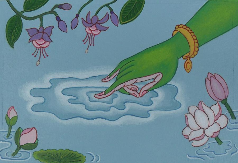 Tibetan Painting - Like Writing On Water 3 by Andrea Nerozzi